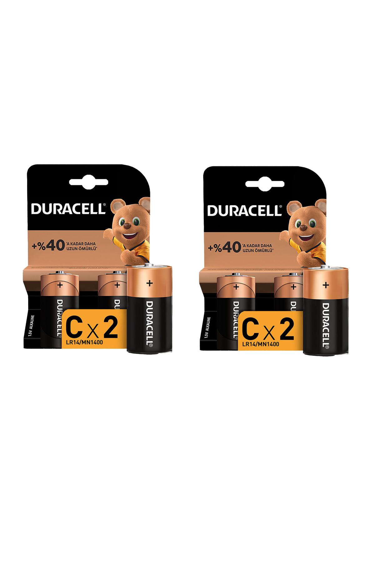 Duracell C 4 Adet Ortal Pil