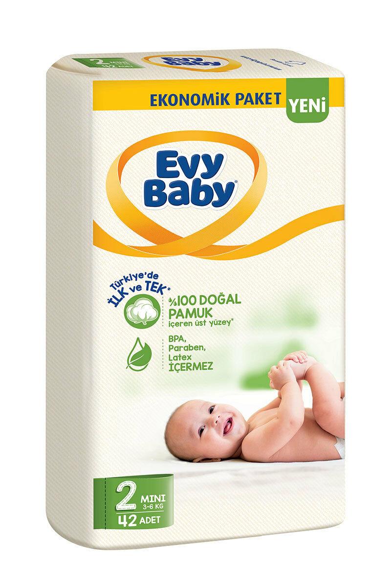 Evy Baby Bebek Bezi Ekonomik 42 adet 2 Numara