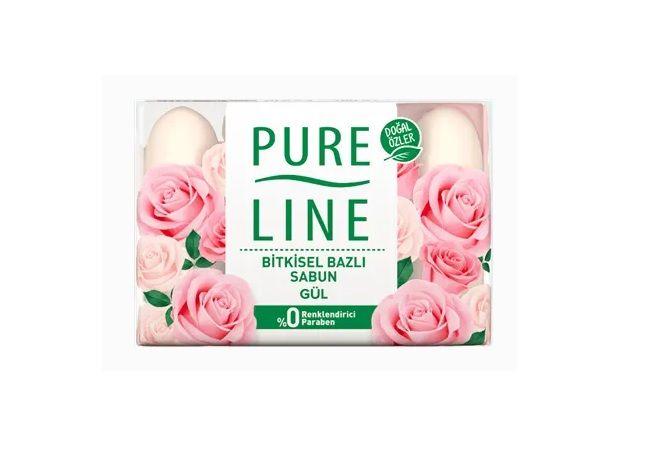 Pure Line Gül Katı Sabun 4X70Gr