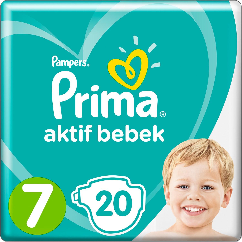 Prima  Bebek Bezi Aktif Bebek 7 Beden20 Adet Standard Paket