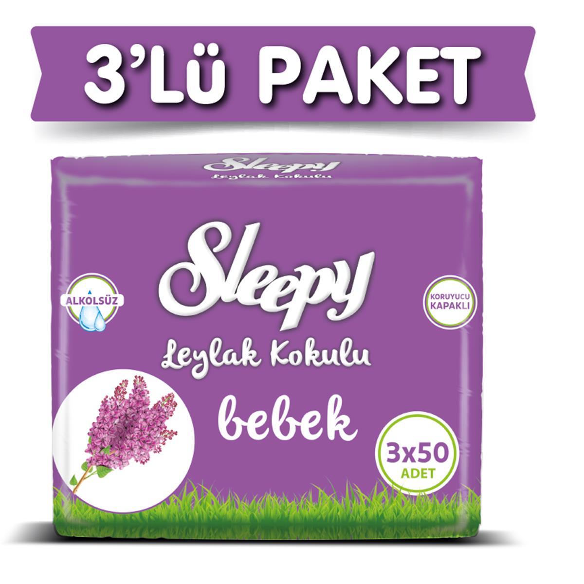 Sleepy Islak Mendil Leylak Kokulu 50 Adet X 3 Adet