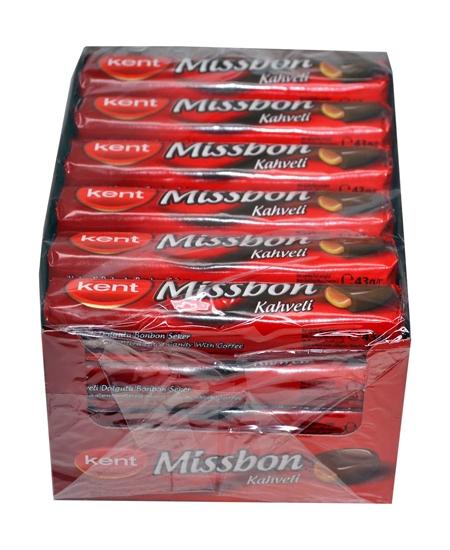 Missbon Kahve Aromalı Dolgulu Bonbon Şeker 43 gr X 24'lü Paket