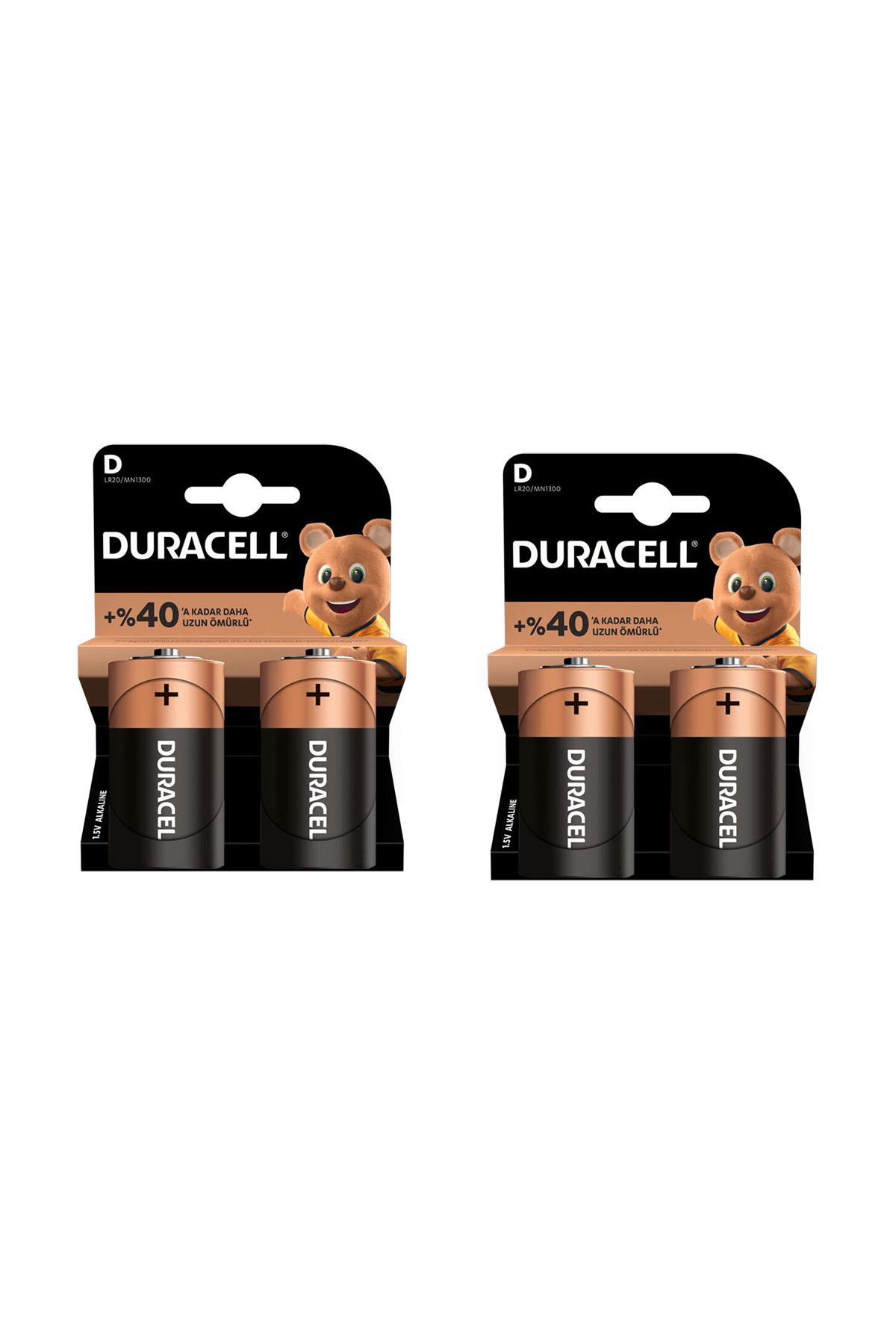 Duracell D 4'Lü Büyük Pil
