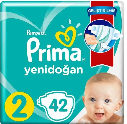 Prima Bebek Bezi Aktif Bebek 2 Beden 42 Adet Standard Paket