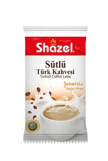 Shazel Sütlü Türk Kahvesi Şekersiz 12 Adet