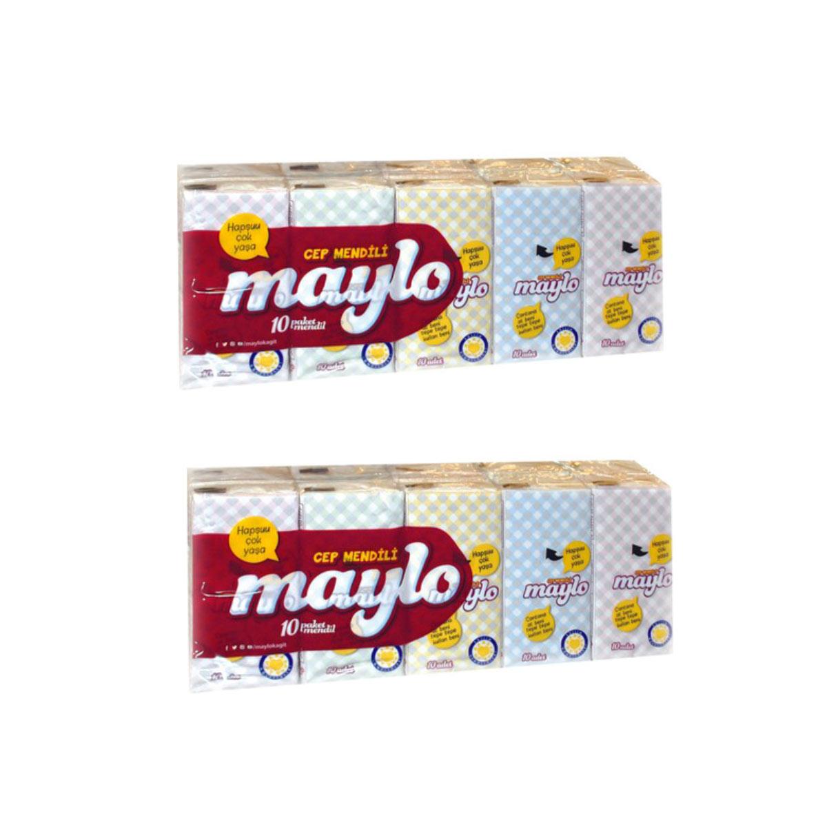Maylo Cep Mendili 10 lu Paket X 2 Adet