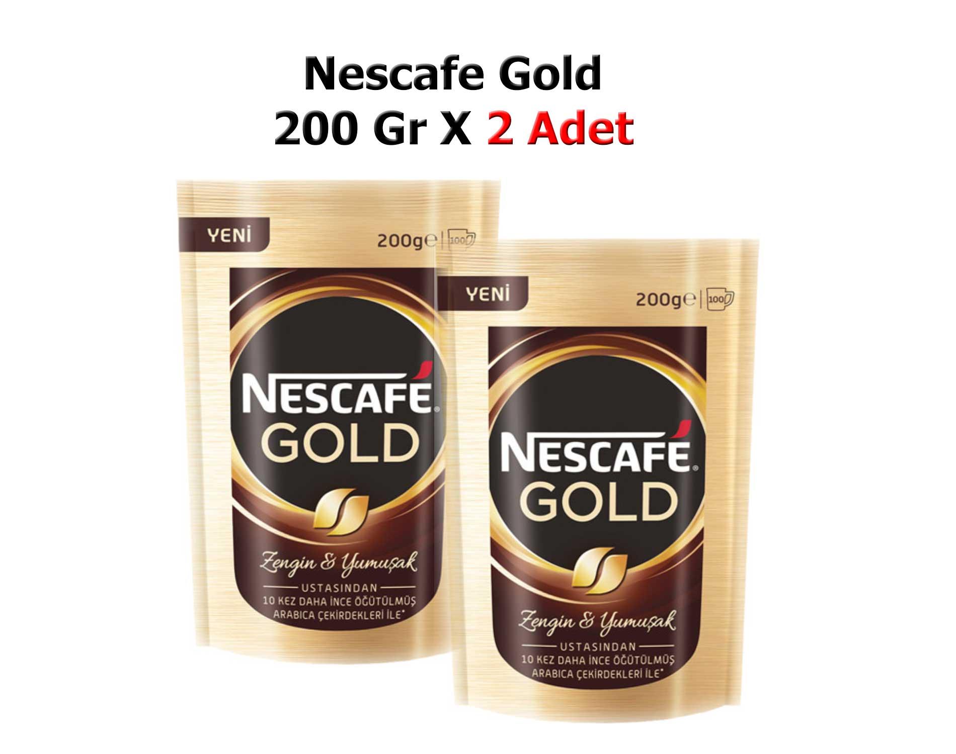 Nescafe Gold Kahve 200 Gr X 2 Adet