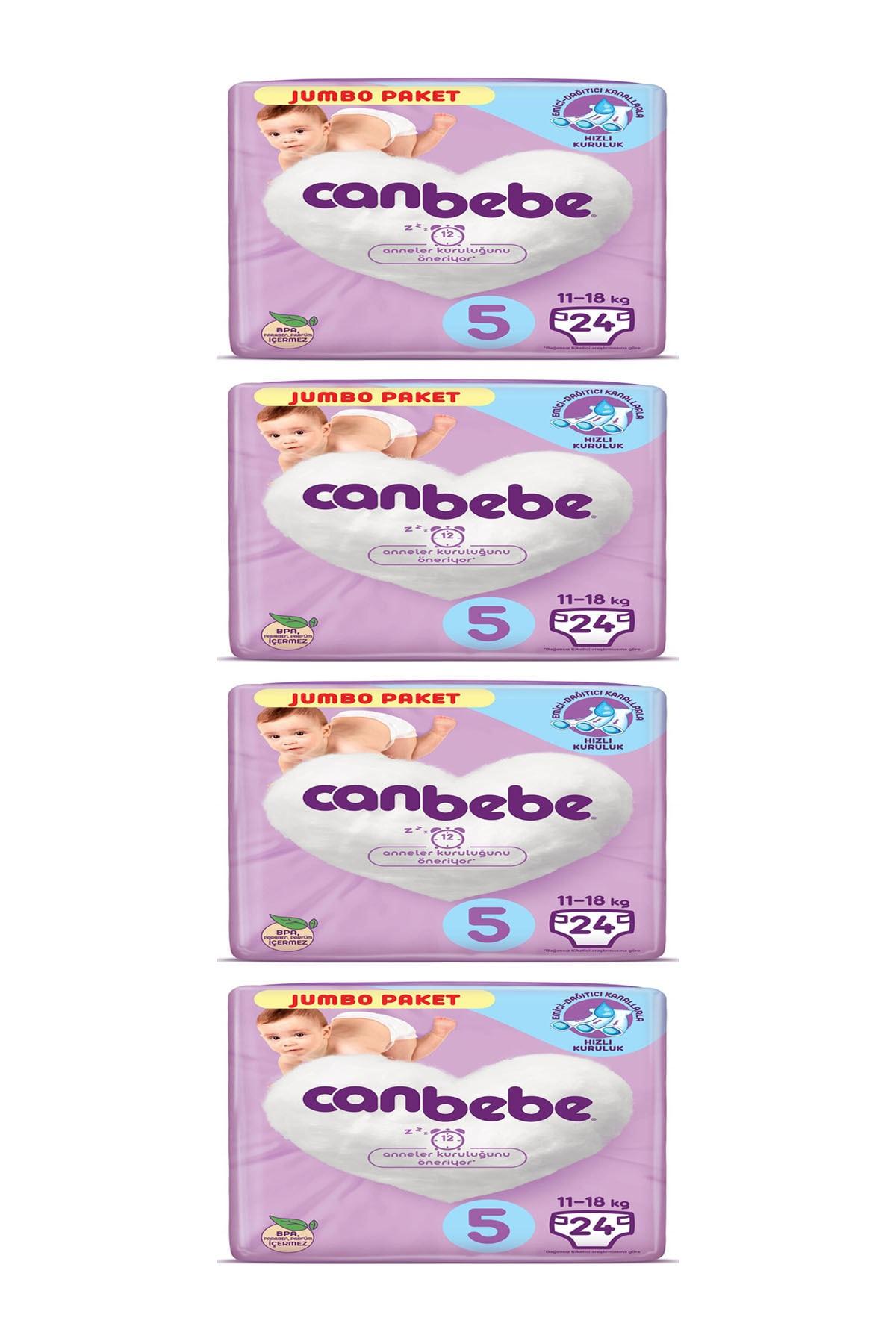 Canbebe Bebek Bezi 5 Numara 11-18 kg 96 Adet