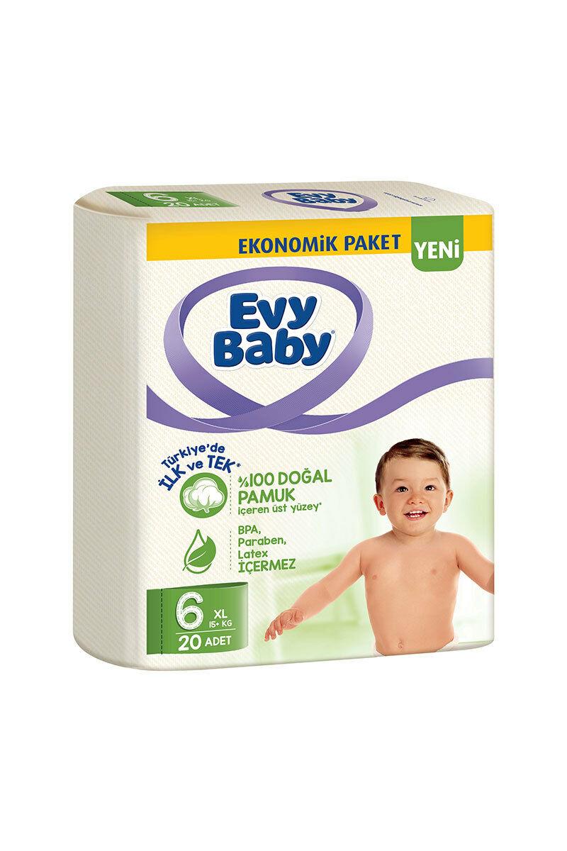Evy Baby Bebek Bezi Ekonomik 20 Adet 6 Numara