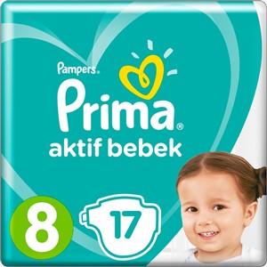 Prima  Bebek Bezi Aktif Bebek 8 Beden 17 Adet Standard Paket
