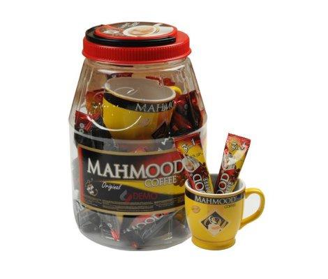 Mahmood Cafe Kavanoz 3Ü1 Arada Kahve 36 lı Bardak Hediyeli