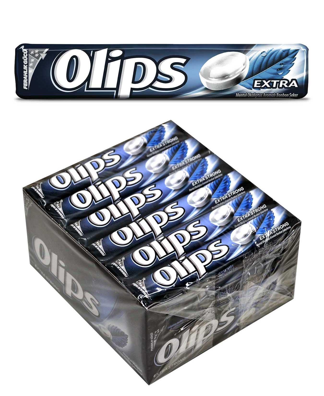 Olips Keskin Mentol Aromalı Bonbon Şekerleme 28 gr x 24'lü Paket