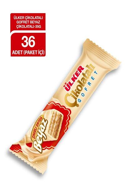 Ülker Beyaz Çikolatalı Gofret 35gr 36 Adet