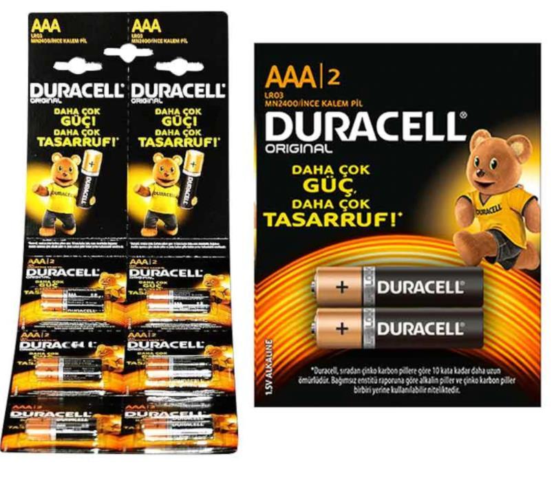 Duracell AAA 12'li Kartela İnce Pil