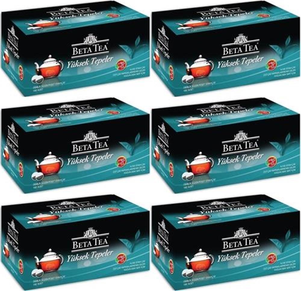 Beta Tea Yüksek Tepeler Demlik PoŞet 100 Lü 6 Paket