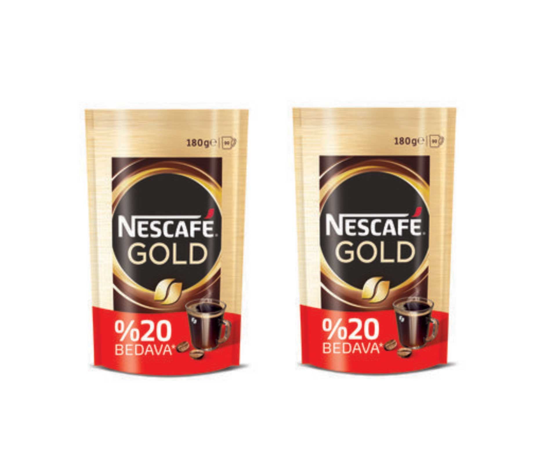 Nescafe Gold Hazır Kahve 180 Gr X 2 Adet